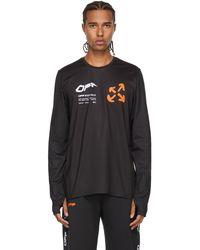 Off-White c/o Virgil Abloh - ブラック & オレンジ Active ロゴ ロング スリーブ T シャツ - Lyst
