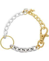 Bless Bracelet doré et argenté Materialmix - Métallisé