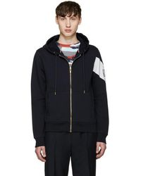Moncler Gamme Bleu Navy Zip-up Hoodie - Blue