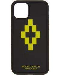 Marcelo Burlon ブラック & ライム 3d クロス Iphone 11 Pro ケース