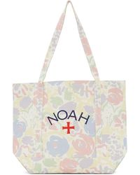 Noah Recycled Canvas Core Logo Tote - White