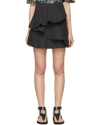 Étoile Isabel Marant - Black Denim Coati Miniskirt - Lyst