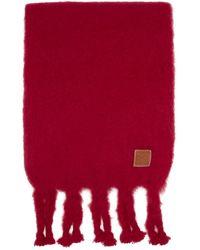 Loewe Red William De Morgan Mohair Scarf