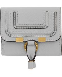 Chloé Blue Square Marcie Wallet - Gray