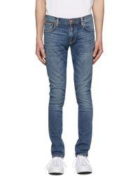 Nudie Jeans - ブルー タイト Terry ジーンズ - Lyst