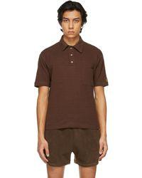 Phlemuns - ブラウン Shirred ポロシャツ - Lyst
