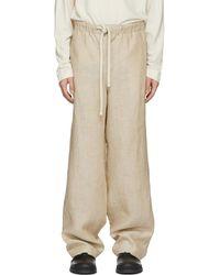 Loewe - Beige Pajama Pants - Lyst