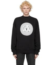 Versace Jeans Couture ブラック ロゴ クルーネック