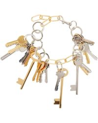 Balenciaga - Gold And Silver Multi-key Necklace - Lyst