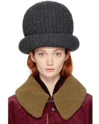 Marc Jacobs - Grey Oversized Knit Hat - Lyst