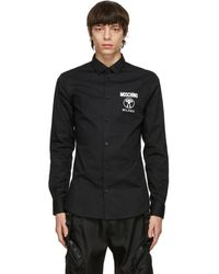 Moschino ブラック ロゴ シャツ
