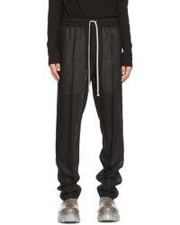 Rick Owens Pantalon Astaires noir en laine