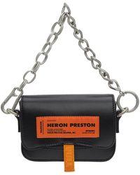 Heron Preston ブラック Mini Canal バッグ