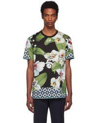 Dolce & Gabbana マルチカラー オーチャード プリント T シャツ - グリーン