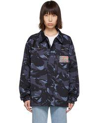 Martine Rose Blue Camo Jacket