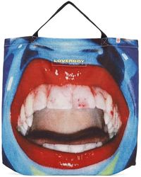 Charles Jeffrey LOVERBOY Blue Large Mouth Tote