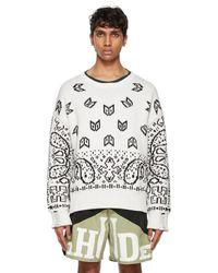 Rhude White Bandana Lounge Sweater