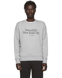 Saturdays NYC Gray Bowery Miller Standard Sweatshirt