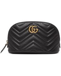 Gucci GG Marmont Cosmetic Case - Black