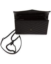 Saint Laurent - Black Monogramme Envelope Chain Wallet Bag - Lyst