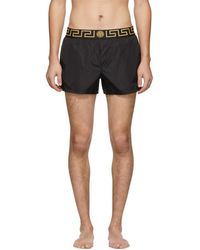 Versace - Black Greca Border Swim Shorts - Lyst