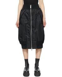 Sacai ブラック Bomber スカート
