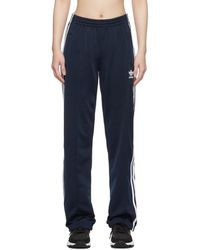 adidas Originals Navy Firebird Track Pants - Blue