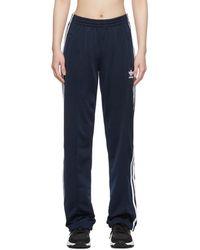 adidas Originals Navy Firebird Track Trousers - Blue