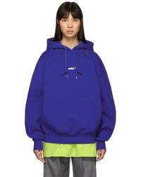 ADER error Pull a capuche bleu Small Logo