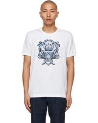 Dolce & Gabbana ホワイト Heraldic プリント T シャツ