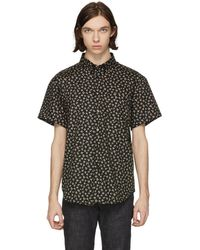Naked & Famous | Black Short Sleeve Vintage Flowers Shirt | Lyst