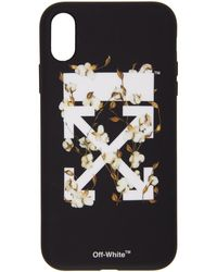 Off-White c/o Virgil Abloh Etui pour iPhone XR noir Cotton Arrows