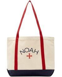 Noah レッド And ネイビー ロゴ トート - ブルー