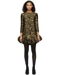 Khaite ゴールド & ブラック Lorie ドレス