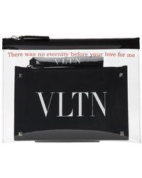 Valentino Pochette en PVC transparente VLTN Garavani - Noir