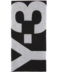 Y-3 ブラック ロゴ マフラー
