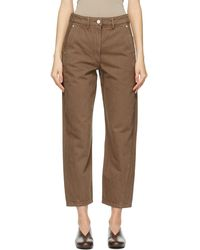 Lemaire Ssense Exclusive Brown Twisted Jeans
