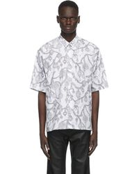 Givenchy Chemise blanche Jewelry Print Loose Fit