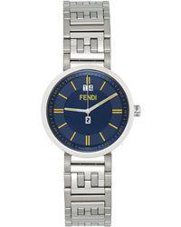 Fendi シルバー & ブルー Forever 腕時計 - メタリック