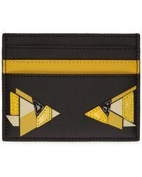 Fendi - ブラック And イエロー デジタル バッグ バグ カード ホルダー - Lyst