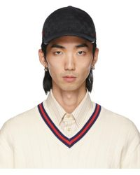 Gucci - Black Canvas Original GG Baseball Cap - Lyst