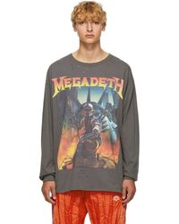 R13 T-shirt a manches longues noir Megadeth Fatalbot