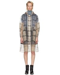 Fendi - Multicolour Check Organza Hooded Coat - Lyst