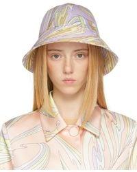Emilio Pucci Multicolour Graphic Bucket Hat - Natural
