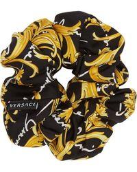 Versace Black Barocco Signature Scrunchie