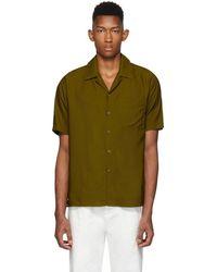 AMI ブラウン Camp カラー シャツ - グリーン