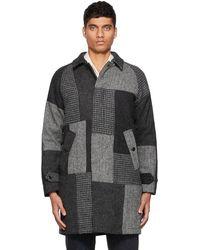 Beams Plus グレー ステンカラー コート