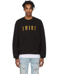 Amiri - ブラック ロゴ コア スウェットシャツ - Lyst