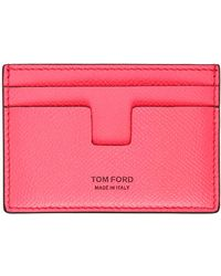 Tom Ford ピンク T-line カード ケース