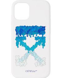 Off-White c/o Virgil Abloh ホワイト & ブルー Marker Iphone 12 Mini ケース - マルチカラー